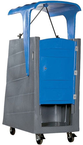 Poly Lift Portable Restroom with Roof (PolyJohn PL01-1000)